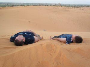 Neal & Tobi in sand